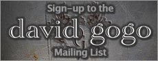Sign-up to the David Gogo Mailing List